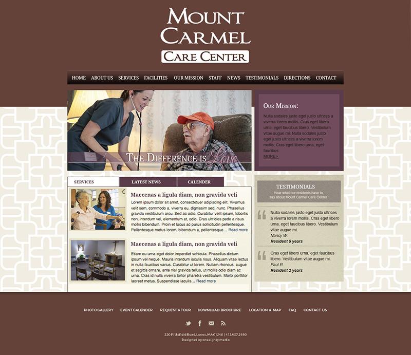 Mount Carmel Care Center Website - Oneeighty Media